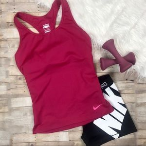 Nike Pro Compression Pink Tank Top Sports Bra